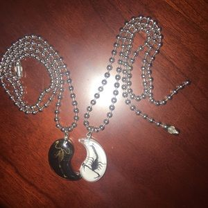 Scorpio yin and yang necklaces